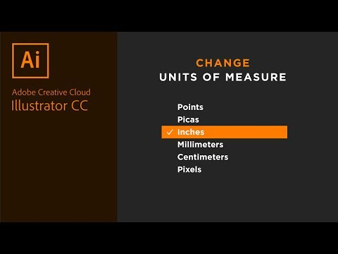 Change Units Of Measure In Adobe Illustrator (points, Pixels, Inches, Cm, Mm, Picas)