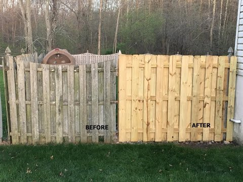 Wooden Fence Panel from Individual Pickets and Runners