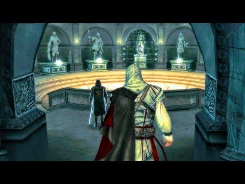 Uncle Shows Ezio Statues of Amunet, Darius, Iltany, Wei Yu, Qulan Gal, Leonius (Assassin's Creed 2)