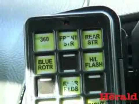 Police car ANPR technology explained by Plymouth police officer
