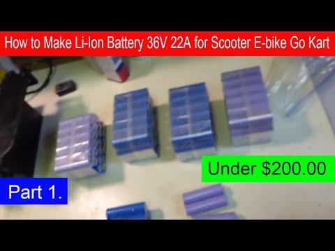 9450bf04b0f How to Make Li-Ion Battery Pack 36V 22 Amps for E Scooter E-bike Go Kart  Under DIY $200.00 (part 1) - - vimore.org