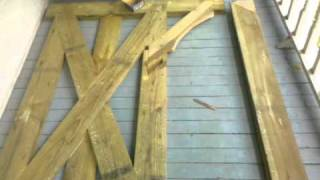 How To Make A 14ft Wood Gate Part 8