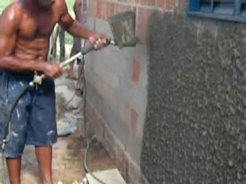 Mortar Sprayer Plaster Sprayer Youtube
