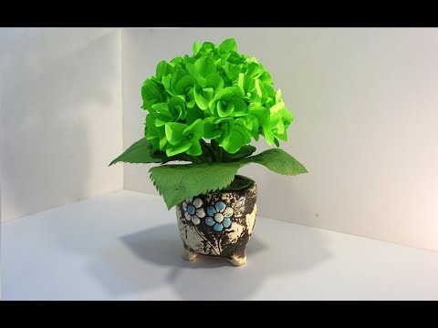 How to make Hydrangea paper flowers super Easy and very Beautiful - DIY Paper Craft for beginner
