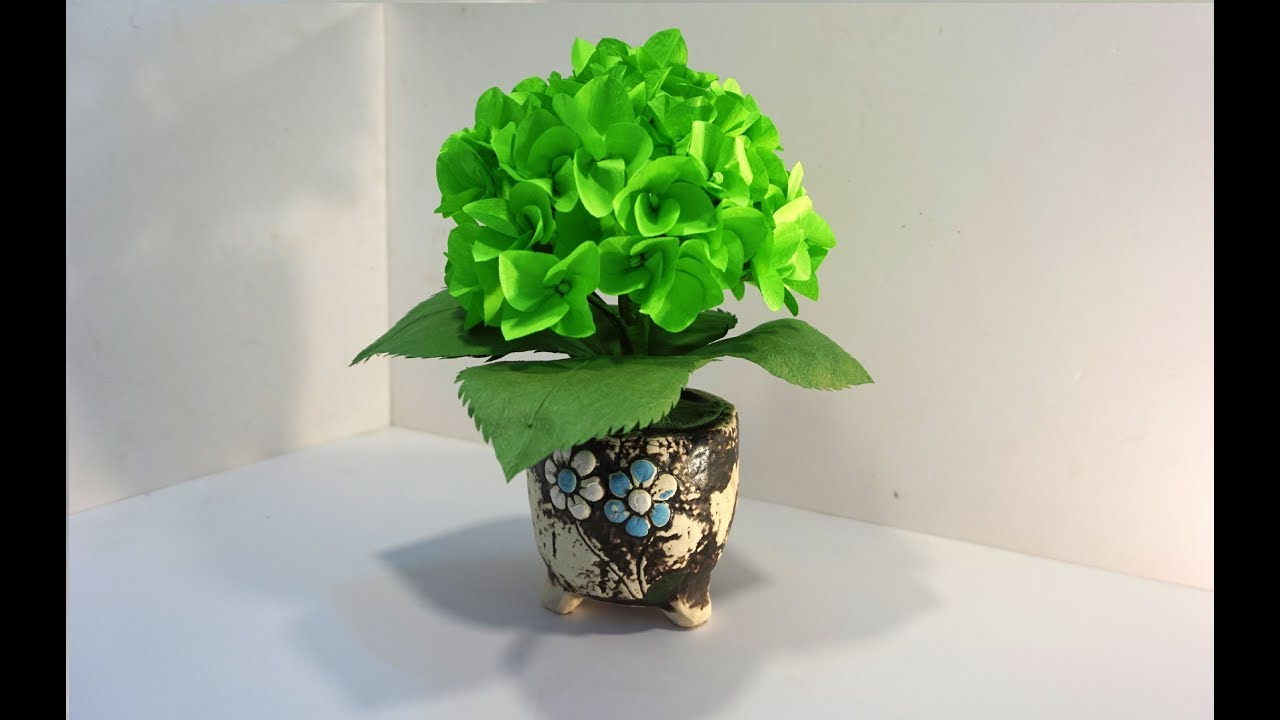 How To Make Hydrangea Paper Flowers Super Easy And Very Beautiful