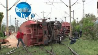 Tren deraiat la intrare in Gara Craiova