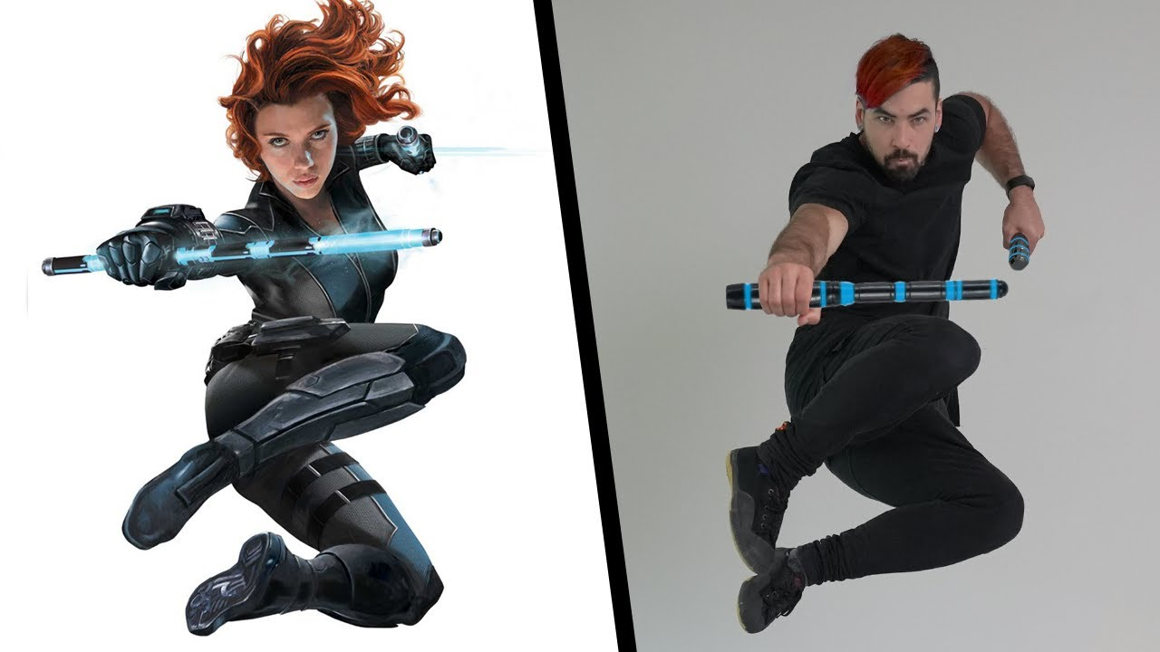 Stunts From Black Widow In Real Life (Marvel)