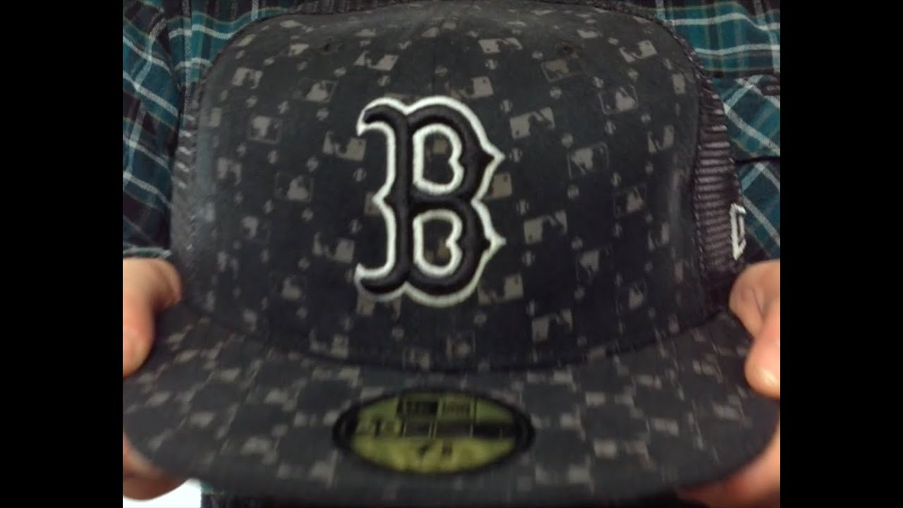 ce7a960d11a Red Sox  MLB FLOCKING  Mesh Back Fitted Hat by New Era - YouTube