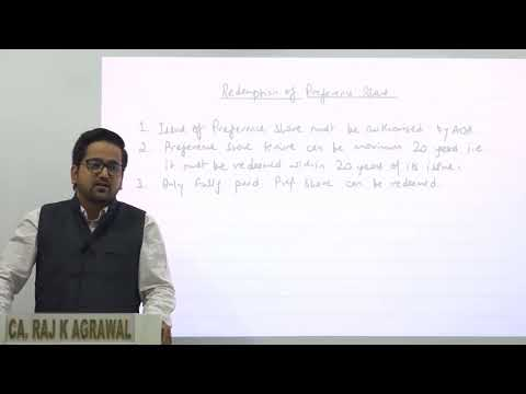Redemption of Preference Shares by CA Raj K Agrawal