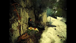 solo winter overnight - bushcraft