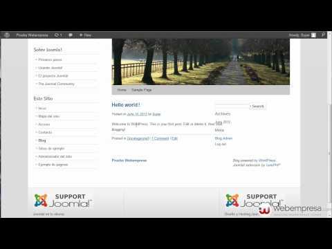 Integración De Joomla Con Wordpress