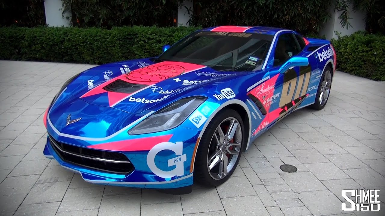Gumball 3000 2014 Chrome Blue Corvette Stingray Youtube