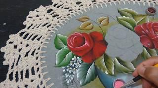Roberto Ferreira –  Parte 2 – Pintura Rosas Vermelhas Técnicas para iniciantes