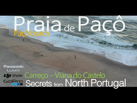 DJI Spark and Hero6  Beach Paçô - Carreço - Viana do Castelo Praia de Paçô
