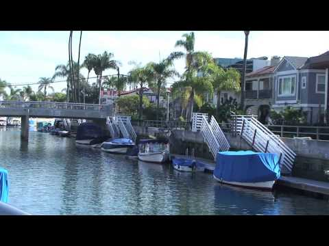 The canals of Naples, Long Beach, California, USA