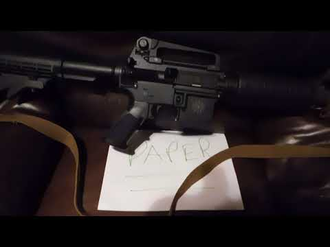 The Infamous AR 15. Lets watch and see what it does #MAGA