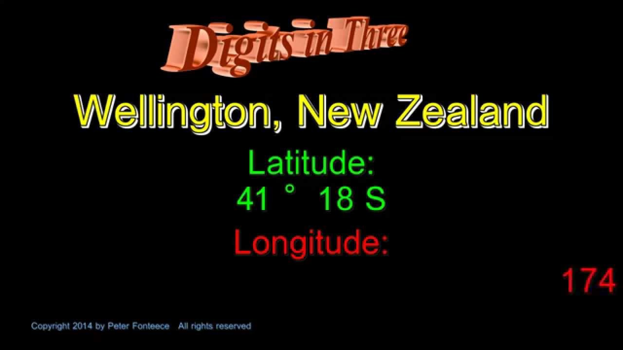 Wellington New Zealand Latitude And Longitude Digits In Three - New zealand latitude
