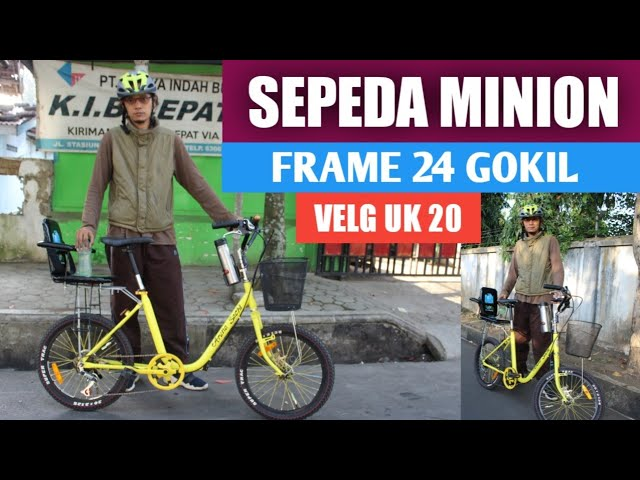 Sepeda Minion Frame 24 Velg Uk 20 Gokil Special Sayang Anak Youtube