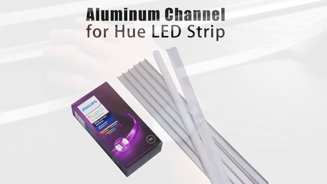 put philips hue led strip light to aluminum channel system or led profile youtube. Black Bedroom Furniture Sets. Home Design Ideas