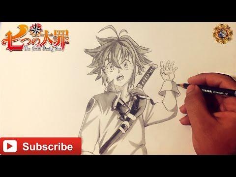 Speed Drawing Meliodas Nanatsu No Taizai The Seven Deadly Sins