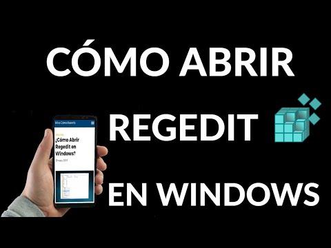 Cómo Abrir Regedit en Windows