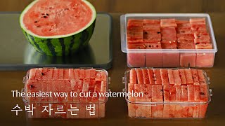 🍉 The easiest wąy to cut a watermelon [w table]