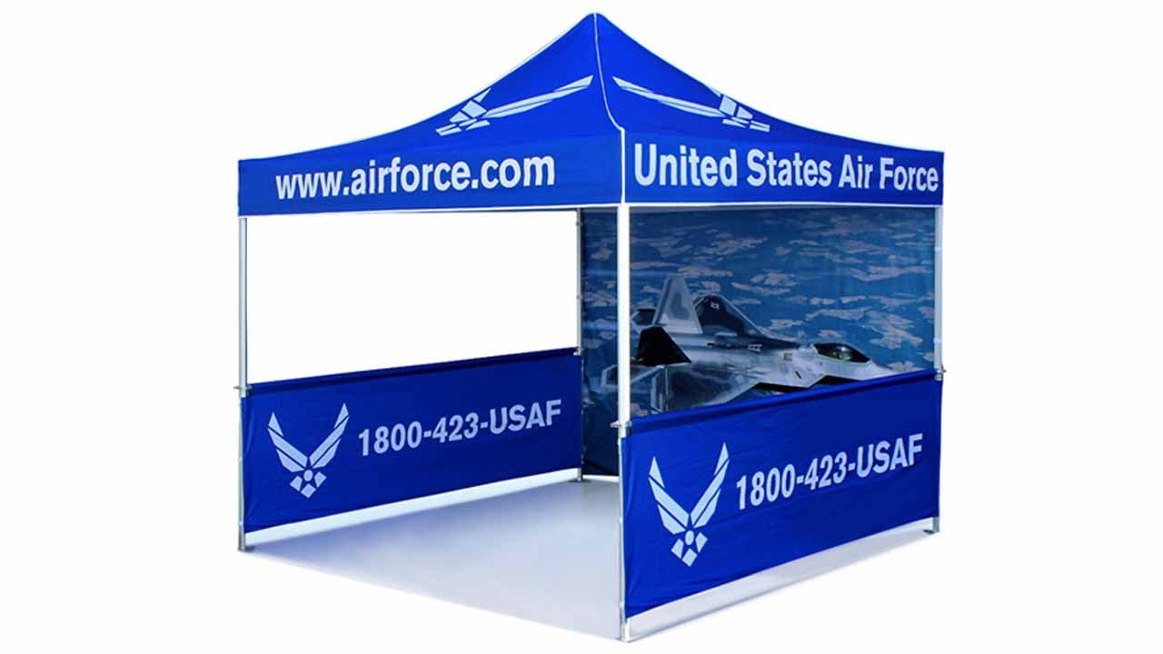 Airborne Visuals Portable Outdoor Full Color Dye Sub Canopy Tent - YouTube  sc 1 st  YouTube & Airborne Visuals Portable Outdoor Full Color Dye Sub Canopy Tent ...