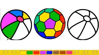 World Cup Soccer Ball coloring pages for kids | How to Draw a FootBall