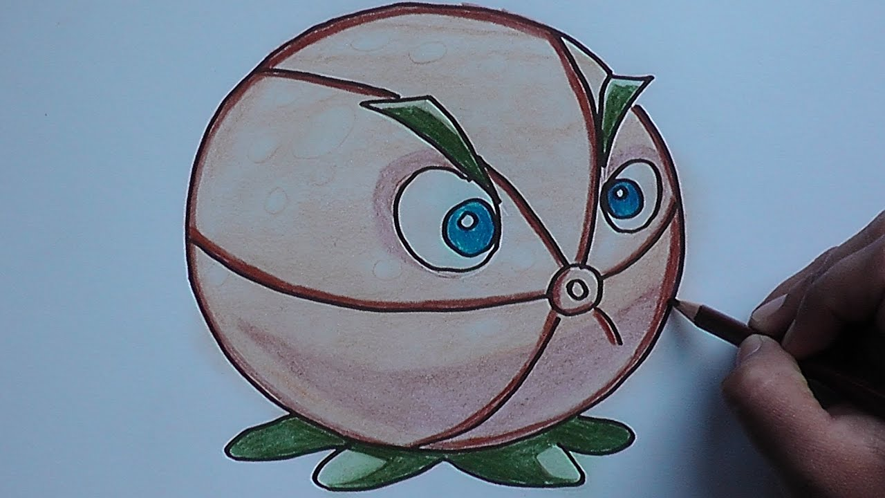 Dibujar Y Colorear A Pomelo Plantas Vs Zombies 2 Draw And Color A Grapefruit