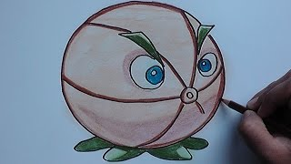 Dibujar y colorear a Pomelo (Plantas vs Zombies 2) - Draw and color a Grapefruit