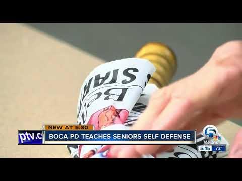 Seniors learn 'Cane-Fu' self defense in Boca Raton