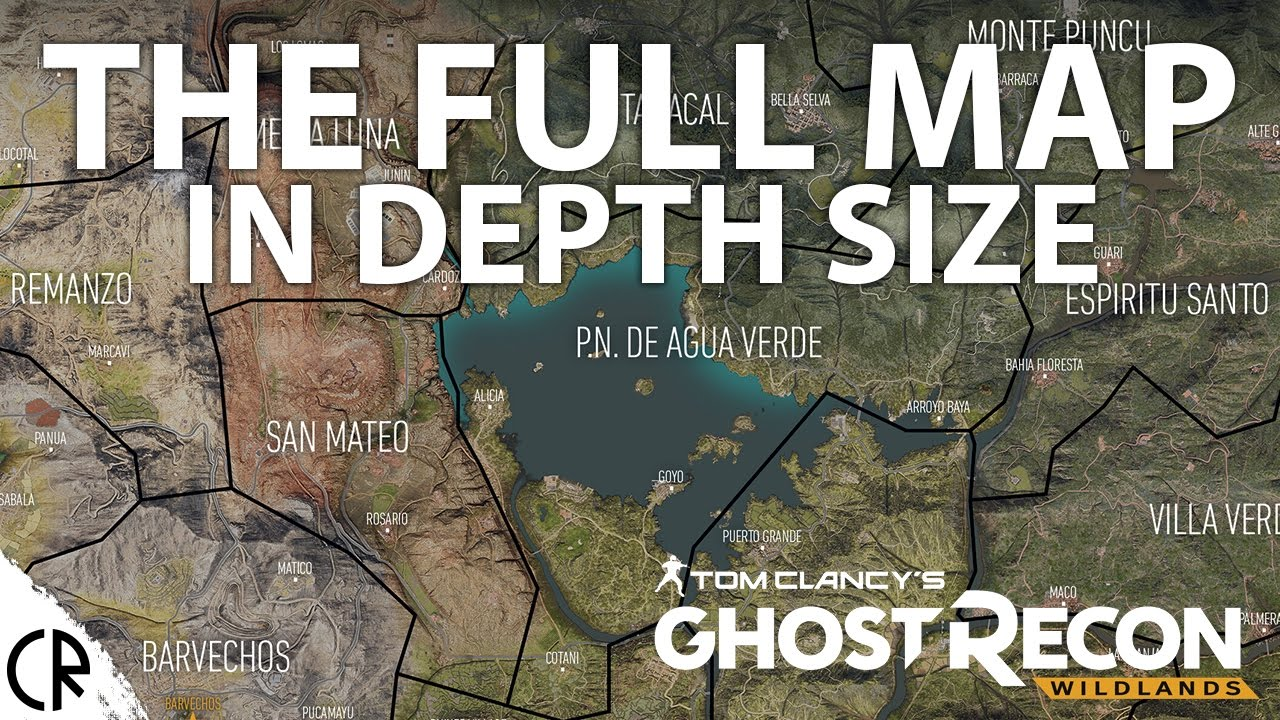 Ghost Recon Wildlands Karte.Full Official Map Ghost Recon Wildlands In Depth