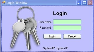 Create Login Window