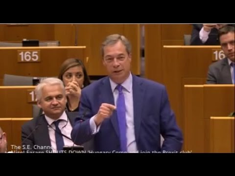 Nigel Farage SHOUTS DOWN 'Hungary- Come and join the Brexit club'