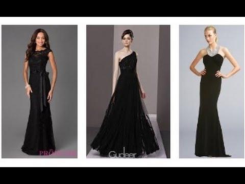 schwarzes abendkleid schöne abendkleider lang  youtube