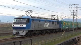 【 驚異のヤマト宅急便33個!】JR東海道本線 貨物列車5050レ 南荒尾信号所通過
