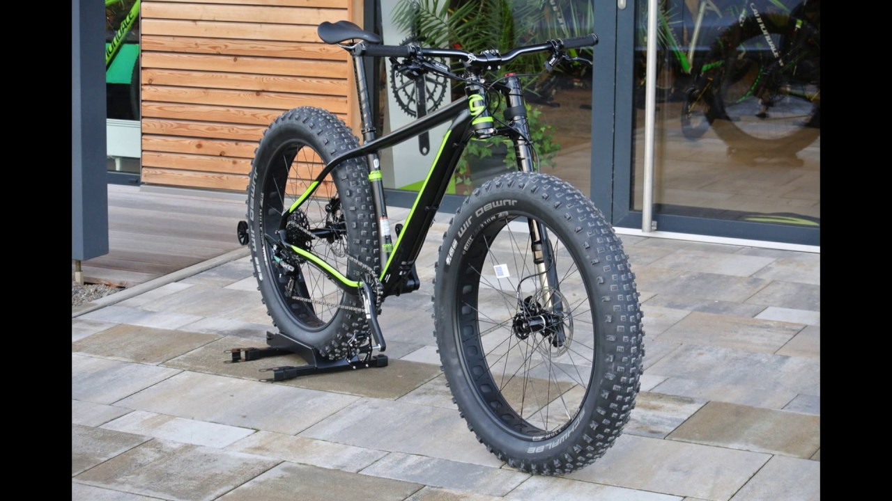 Cannondale Fat Caad 1 Black Youtube