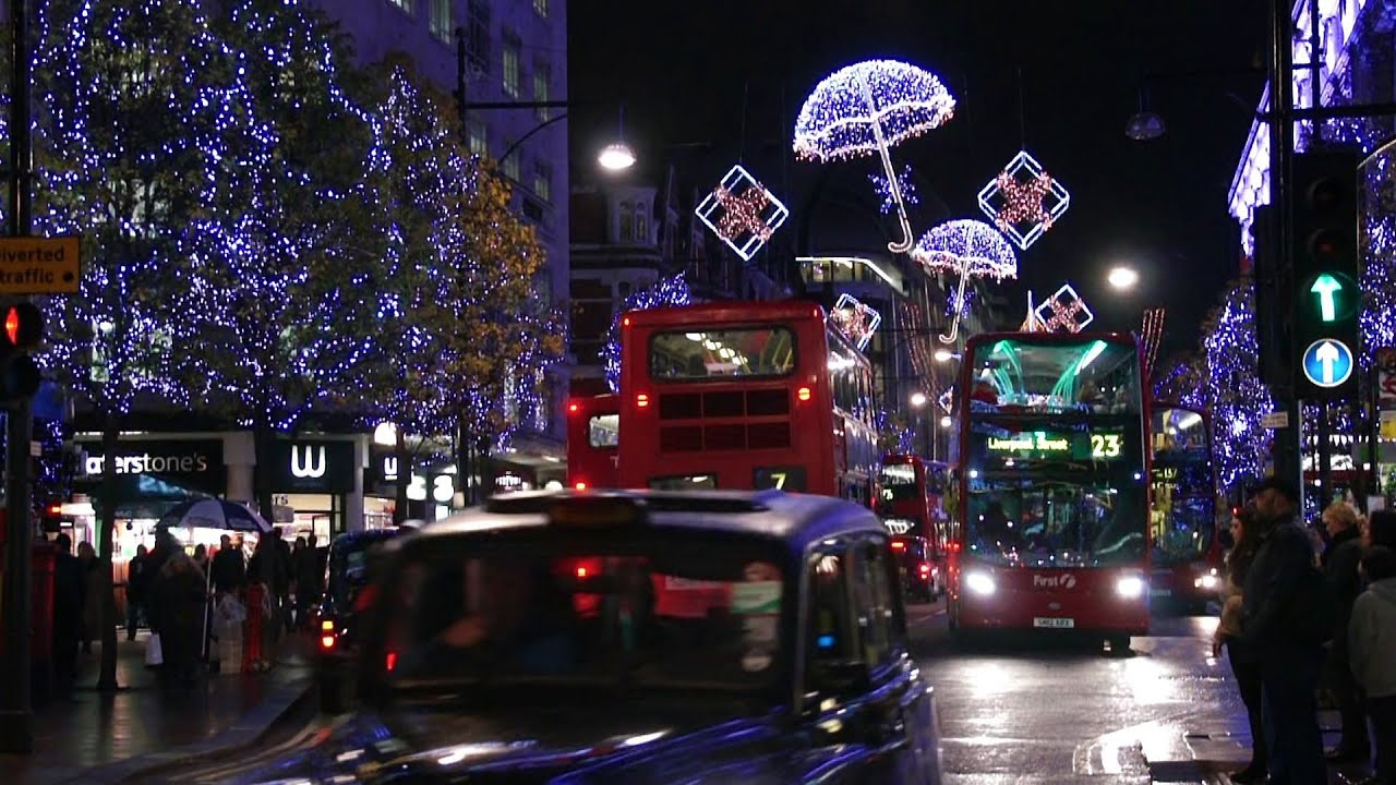 christmas lights and decorations in london uk youtube - London Christmas Decorations