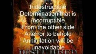 Disturbed - Indestructible the song with lyrics