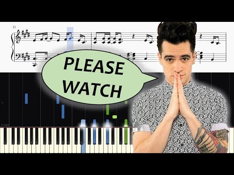 Panic! At The Disco - (Fuck A) Silver Lining - ADVANCED Piano Tutorial + SHEETS