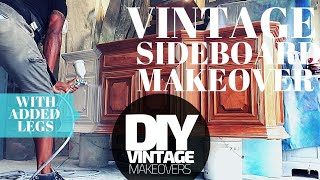 DIY vintage sideboard makeover in white