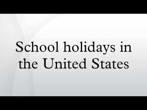 School holidays in the United States