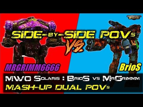 [BRxV] MWO Solaris : BrioS vs MrGrimm : Side-by-Side Video
