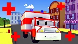 amber the ambulance and friends in car city tom the tow truck the car patrol trucks cartoons