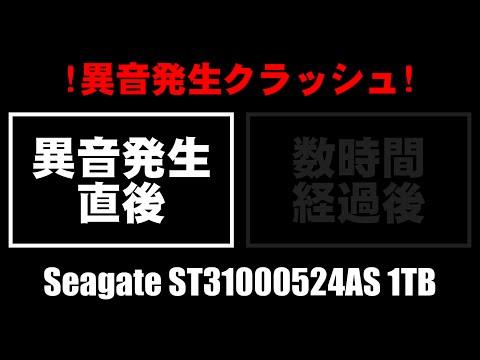 [精神的ヴルァクルァ] ハードディスクの異音(Seagate,ST31000524AS,1TB)