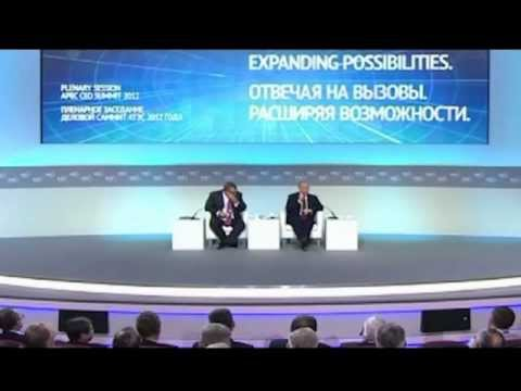 Russian President Vladimir Putin speaks at the APEC CEO Summit 2012
