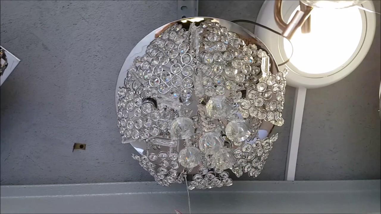 Plafoniere Rgb : Rzym plafoniera kryształowa z pilotem led rgb youtube