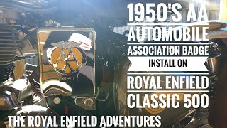 REA #23 | 1950's AA Automobile Association Badge or Shield | Install on Royal Enfield Classic 500