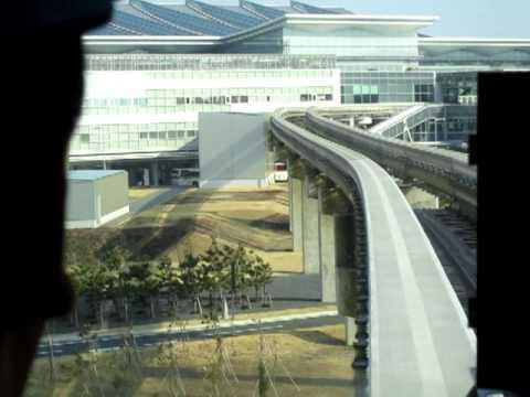 東京モノレール(Tokyo Monorail)先頭眺望(浜松町→羽田空港第2ビル)