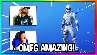 TWITCH STREAMERS REACT TO NEW FORTNITE SKINS (WHITEOUT & OVERTAKER)